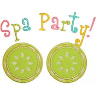 Spa Party Applique