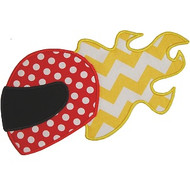 Fire Helmet Applique