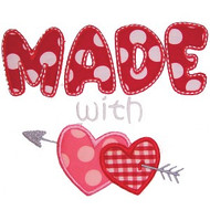Made With Love Applique