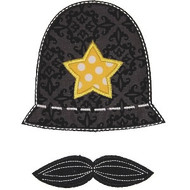 Cop Hat Applique