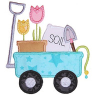 Spring Wagon Applique