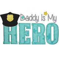 Police Dad Applique