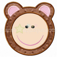 Bear Face Applique