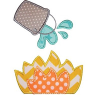 Fire and Bucket Applique