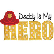 Fireman Dad Applique