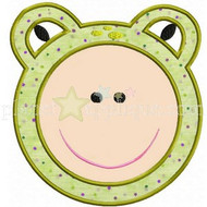 Frog Face Applique