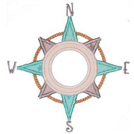 Nautical Compass Applique