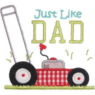 Mow Like Dad Applique