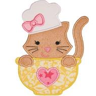 Chef Kitty Applique