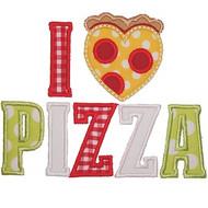 I Love Pizza Applique