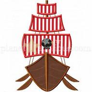 Pirate Ship Applique