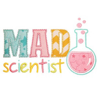 Mad Scientist Applique