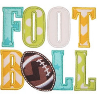 Football Word Applique