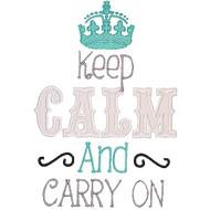 Keep Calm Applique