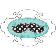 Mustache Patch Applique