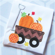 Fall Wagon Applique