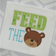 Feed the Bear Applique
