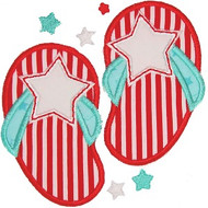 4th of July Flip Flops