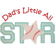 Baseball All Star Applique