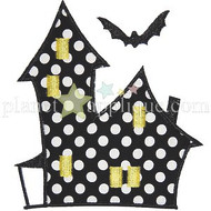 Haunted House Applique