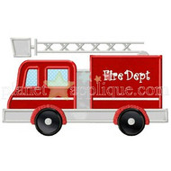 Fire Truck Applique