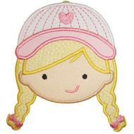 Baseball Girl Applique