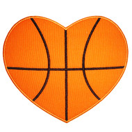 Basketball Heart Applique