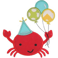 Birthday Crab Applique