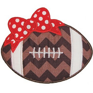 Bow Football Applique