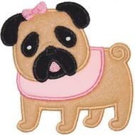 Cute Pug Applique