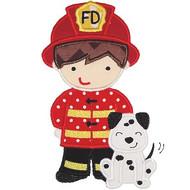 Fireman and Dog