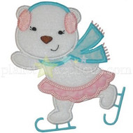 Girly Ice Skating Bear