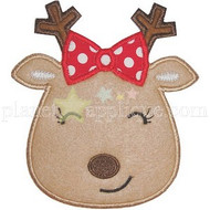 Girly Reindeer Applique