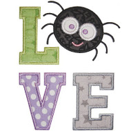 Halloween Love Applique