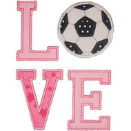 Love Soccer Applique