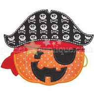 Pirate Pumpkin Applique