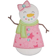 Pretty Snowgirl Applique