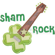 Shamrock Guitar Applique