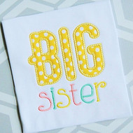 Sibling Sister 2 Applique