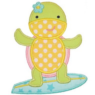 Surfing Turtle Applique
