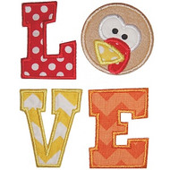 Turkey Love Applique