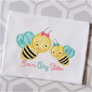 Sibling Bees Applique