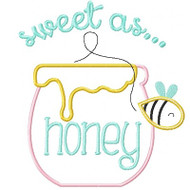 Sweet As Honey Applique