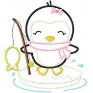 Ice Fishing Penguin