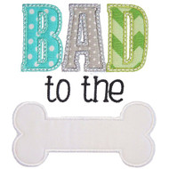 Bad to the Bone Applique