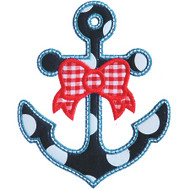 Bow and Anchor Applique