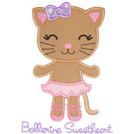 Ballerina Kitty Applique