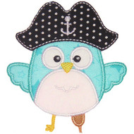 Pirate Owl Applique