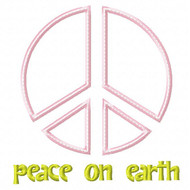 Peace On Earth Applique