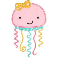 Girly Jellyfish Applique